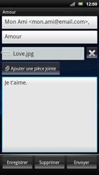 Sony Ericsson Xperia Neo - E-mail - envoyer un e-mail - Étape 9