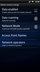 Sony Ericsson Xperia Ray - Internet - Enable or disable - Step 6