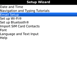 BlackBerry 9300 Curve 3G - E-mail - Manual configuration - Step 5