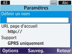 Samsung S3570 Chat 357 - Internet - Configuration manuelle - Étape 9
