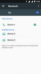 Nokia 3 - Bluetooth - Pair with another device - Step 8