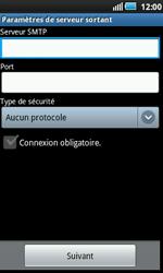 Samsung I5800 Galaxy Apollo - E-mail - Configuration manuelle - Étape 9