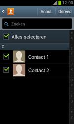Samsung S7560 Galaxy Trend - Contacten en data - Contacten overzetten via Bluetooth - Stap 8