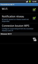 Samsung I9001 Galaxy S Plus - Wifi - configuration manuelle - Étape 6
