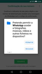 Huawei P10 - Aplicações - Como configurar o WhatsApp -  7