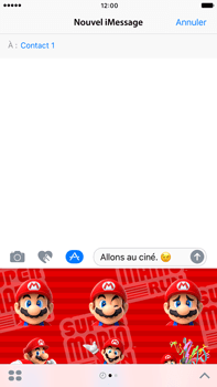 Apple iPhone 7 Plus - iOS features - Envoyer un iMessage - Étape 22