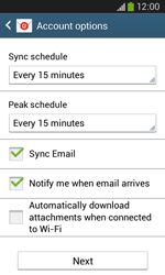Samsung Galaxy Core Plus - Email - Manual configuration - Step 17