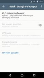 Sony Xperia X Compact (F5321) - WiFi - Mobiele hotspot instellen - Stap 7