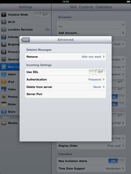 Apple iPad 2 - Email - Manual configuration - Step 14