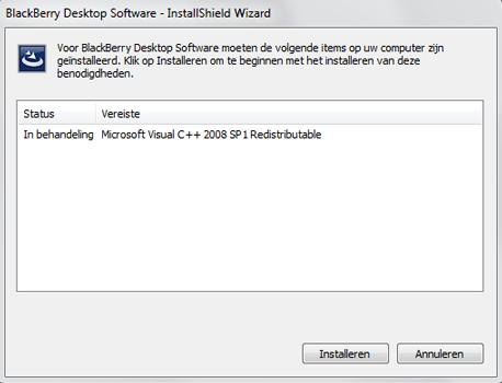 BlackBerry 9900 Bold Touch - Software - Download en installeer PC synchronisatie software - Stap 3