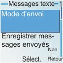 Nokia 6030 - SMS - configuration manuelle - Étape 6