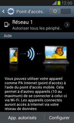 Samsung Galaxy S3 Mini - Internet et connexion - Partager votre connexion en Wi-Fi - Étape 7
