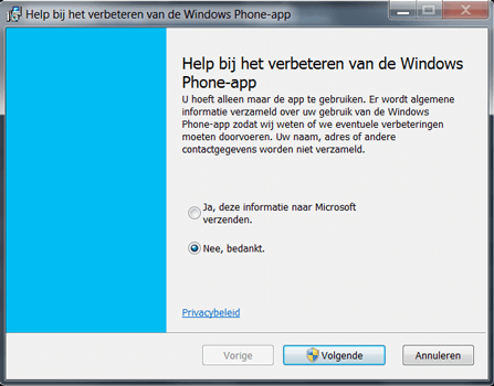 Nokia Lumia 720 - Software - Download en installeer PC synchronisatie software - Stap 5