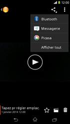 Sony Xpéria M2 - Photos, vidéos, musique - Créer une vidéo - Étape 13