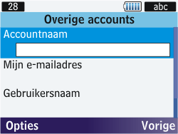 Samsung S3570 Chat 357 - E-mail - Handmatig instellen - Stap 6