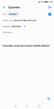 Huawei Mate 10 Lite - E-mail - Bericht met attachment versturen - Stap 7