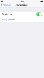 Apple iPhone 6s met iOS 11 (Model A1688) - Beveiliging en ouderlijk toezicht - Hoe wijzig ik mijn SIM PIN-code - Stap 12