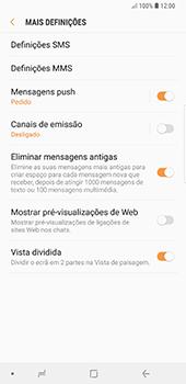 Samsung Galaxy Note 8 - Android Oreo - SMS - Como configurar o centro de mensagens -  7