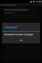 Sony C1505 Xperia E - Voicemail - Manual configuration - Step 8