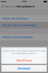 Apple iPhone 4 S - iOS 7 - toestel resetten - fabrieksinstellingen terugzetten - stap 6