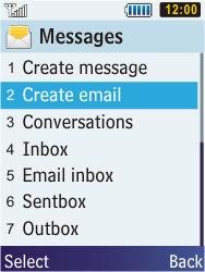Samsung C3350 Xcover 2 - E-mail - Sending emails - Step 4