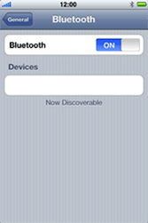 Apple iPhone 3G - Bluetooth - Pair with another device - Step 8