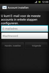 Sony ST23i Xperia Miro - E-mail - e-mail instellen: POP3 - Stap 5