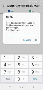 Samsung Galaxy A6 - Beveiliging - pas de pincode voor je simkaart aan - Stap 11