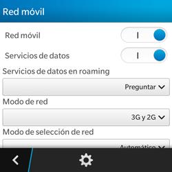 BlackBerry Q5 - Red - Seleccionar el tipo de red - Paso 6