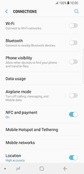 Samsung Galaxy S9 - WiFi and Bluetooth - Setup Bluetooth Pairing - Step 5