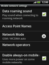 HTC A3333 Wildfire - Network - Usage across the border - Step 6
