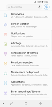 Samsung Galaxy S8 - Android Oreo - Wifi - configuration manuelle - Étape 3