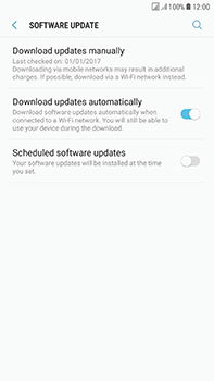 Samsung Galaxy J7 (2017) - Network - Installing software updates - Step 6