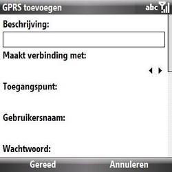 Samsung B7330 Omnia Pro - Internet - handmatig instellen - Stap 7
