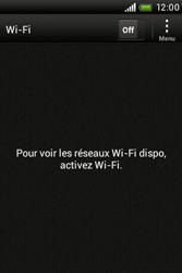 HTC A320e Desire C - Wifi - configuration manuelle - Étape 4