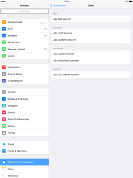 Apple iPad Pro 12.9 (1st gen) - iOS 9 - Email - Manual configuration - Step 6