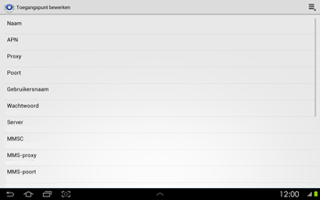 Samsung P5100 Galaxy Tab 2 10-1 - Internet - Handmatig instellen - Stap 8