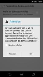 Sony Xperia E4g - Internet et connexion - Désactiver la connexion Internet - Étape 7