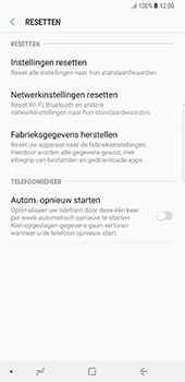 Samsung N950F Galaxy Note 8 - Device maintenance - Terugkeren naar fabrieksinstellingen - Stap 7