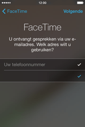 Apple iPhone 4S met iOS 7 (Model A1387) - Applicaties - FaceTime gebruiken - Stap 7
