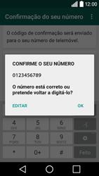 LG Y50 / LEON - Aplicações - Como configurar o WhatsApp -  7