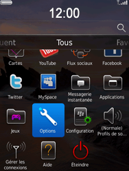 BlackBerry 9800 Torch - Paramètres - Reçus par SMS - Étape 3