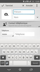 Sony Xperia E4g - Contact, Appels, SMS/MMS - Ajouter un contact - Étape 6