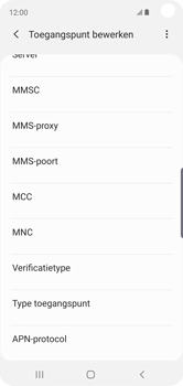 Samsung Galaxy S10e - MMS - handmatig instellen - Stap 13
