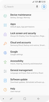 Samsung Galaxy S9 - Device - Reset to factory settings - Step 5