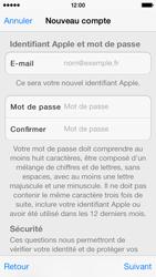 Apple iPhone 5s - Applications - Créer un compte - Étape 12