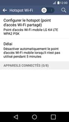 LG K4 - Internet et connexion - Partager votre connexion en Wi-Fi - Étape 6