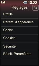 LG KP500 Cookie - Paramètres - Reçus par SMS - Étape 14