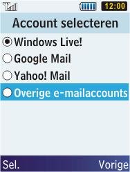 Samsung C3350 Xcover 2 - E-mail - Handmatig instellen - Stap 11