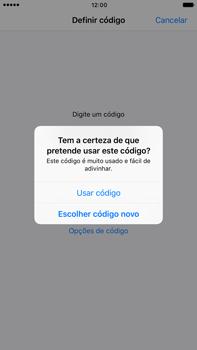 Apple iPhone 7 Plus - Segurança - Ativar o código de bloqueio do ecrã -  8